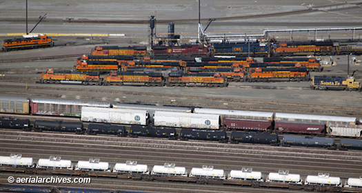 aerial photography BSFN Railyard, Richmond, Contra Costa county California