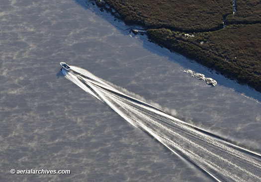 Power Boat Aerial Petaluma River