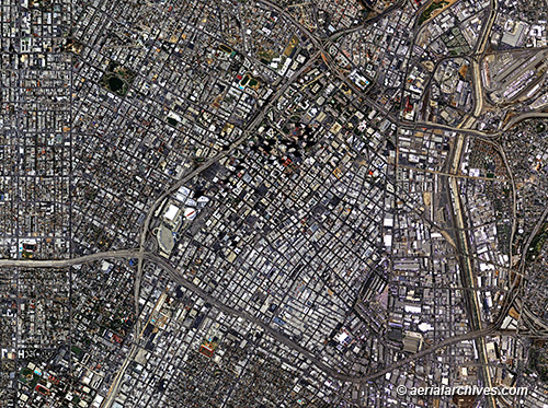 &copy aerialarchives.com  aerial photo map of Los Angeles AHLV3093 BHJXKM
