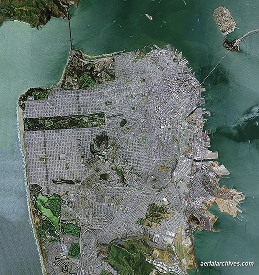 &copy aerialarchives.com  aerial map of the City of San Francisco AHLV4107