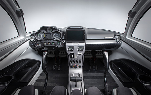 ICON A5 aircraft cockpit design