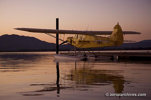 © aerialarchives.com Super Cub, seaplane, floatplane, floats, Clear Lake,  AHLC2616